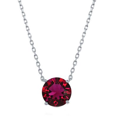Sterling Silver & Swarovski Crystal July Birthstone Necklace