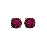 Sterling Silver & Swarovski Crystal July Birthstone Studs