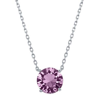 Sterling Silver & Swarovski Crystal June Birthstone Necklace