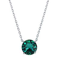 Sterling Silver & Swarovski Crystal May Birthstone Necklace