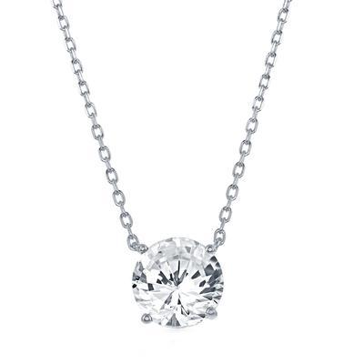 Sterling Silver & Swarovski Crystal April Birthstone Necklace