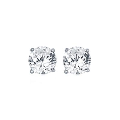 Sterling Silver & Swarovski Crystal April Birthstone Studs