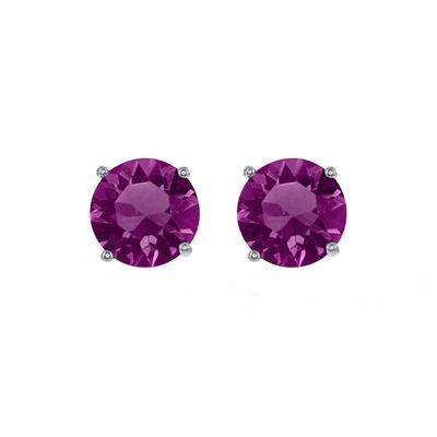 Sterling Silver & Swarovski Crystal February Birthstone Studs