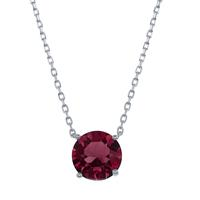 Sterling Silver & Swarovski Crystal January Birthstone Necklace