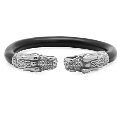 Men's Stainless Steel & Rubber Dragon Cuff