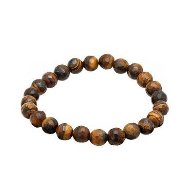 Faceted Tiger's Eye Bead Bracelet