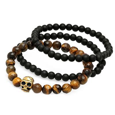Tiger's Eye & Lava Bead Bracelets