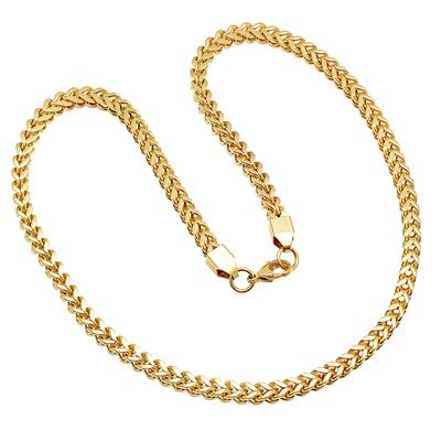 Gold Plated Stainless Steel Franco Chain