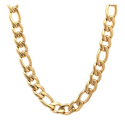 Gold Plated Stainless Steel Figaro Chain