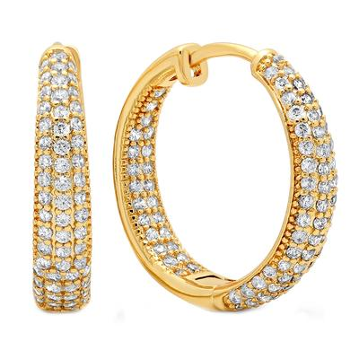 Medium 18k Gold Plated Cz Huggies