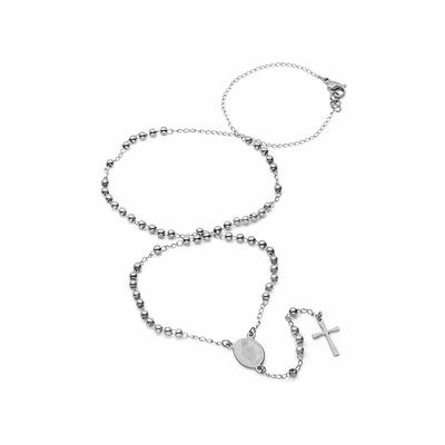 Small Stainless Steel Rosary Necklace