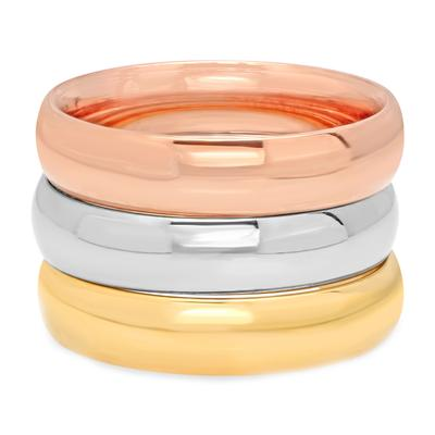 Tri Color Stainless Steel Stacking Ring