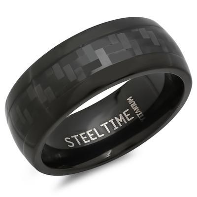 Black Titanium & Carbon Fiber Ring