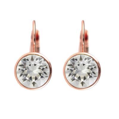 Roberto Martinez Rose Gold & Clear Swarovski Crystal Earrings