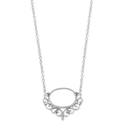 Boma Sterling Silver Filigree Oval Necklace