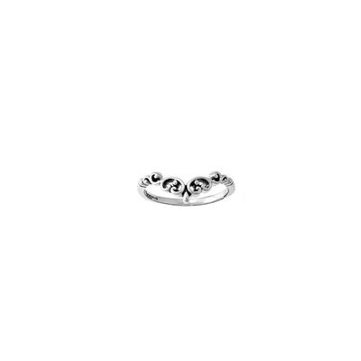 Boma Sterling Silver Filigree Curve Ring