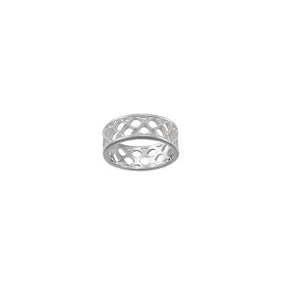 Boma Sterling Silver Crosshatch Ring