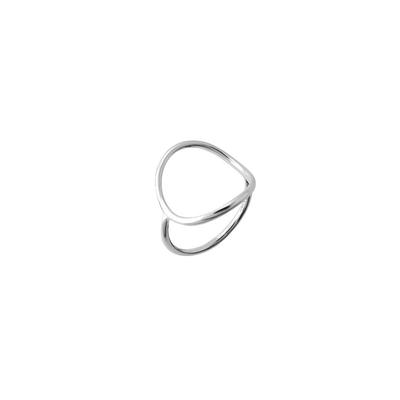 Boma Sterling Silver Curved Open Circle Ring