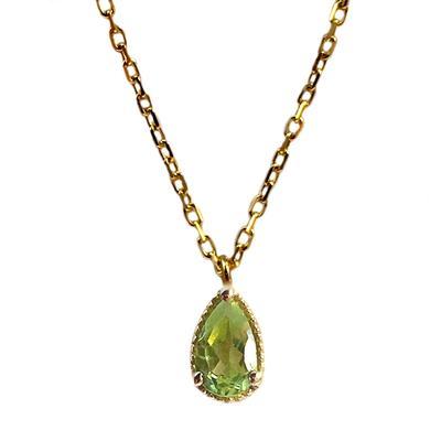 Amy Hong Tiny Gold Peridot Necklace