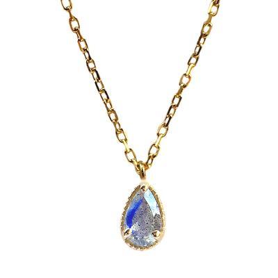 Amy Hong Tiny Gold Labradorite Necklace