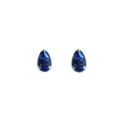 Amy Hong Tiny Sterling Silver Iolite Studs