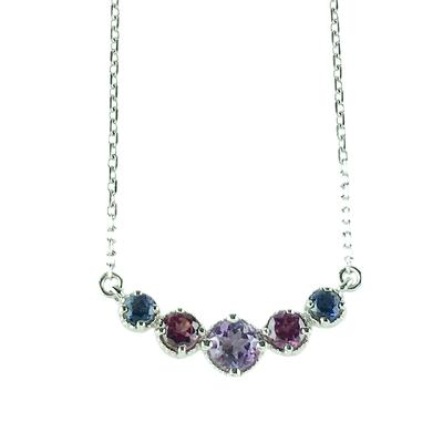 Amy Hong Sterling Silver Purple Curve Necklace
