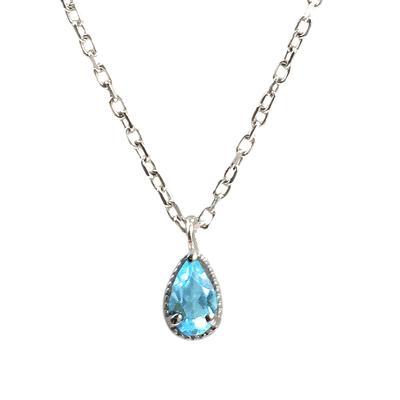 Amy Hong Tiny Sterling Silver Blue Topaz Necklace