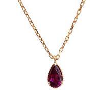 Amy Hong Tiny Rose Gold Rhodolite Garnet Necklace