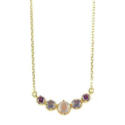 Amy Hong Rose Gold Pink Curve Necklace