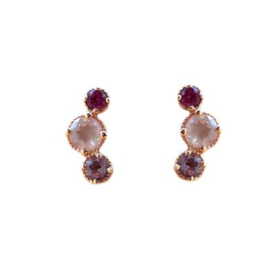Amy Hong Rose Gold Pink Curve Studs