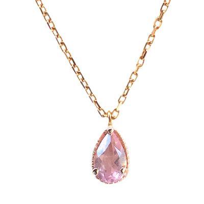 Amy Hong Tiny Rose Gold Rose Quartz Necklace
