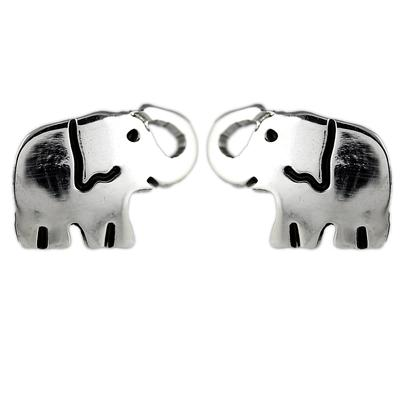 Far Fetched Sterling Silver Elephant Studs