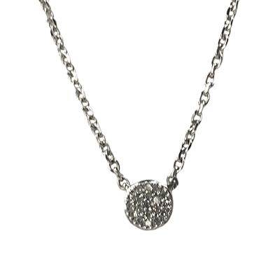 Elsa M Sterling Silver & Diamond Round Disc Necklace