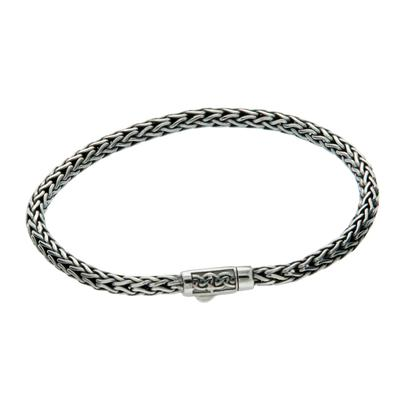Keith Jack Dragon Weave Narrow Rope Bracelet