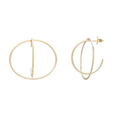 Gold Double Open Front Hoops