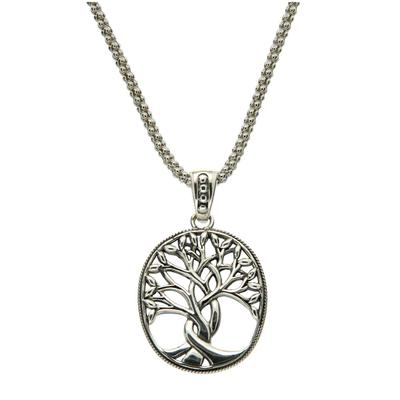 Keith Jack Large Sterling Silver Tree Of Life Necklace