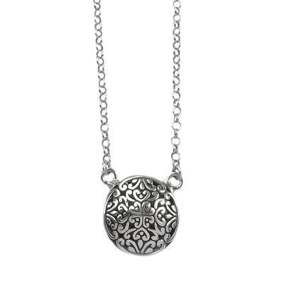 Indiri Small Round Bali Filigree Necklace
