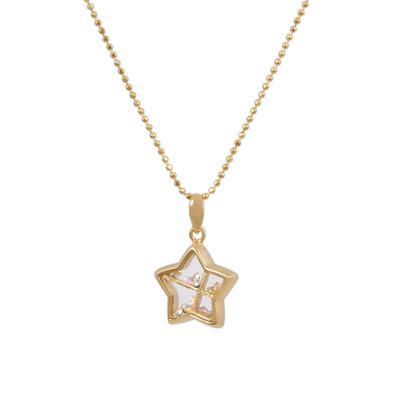 Gold & Ab Crystal Star Shaker Choker