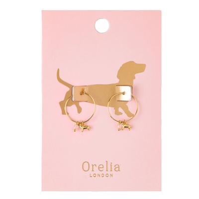 Orelia London Gold Dachshund Hoops