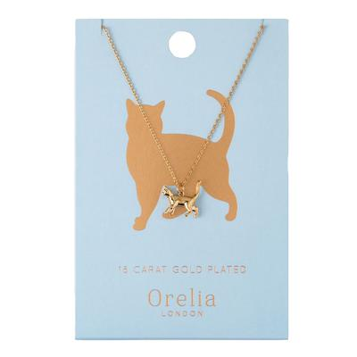 Orelia London Gold Lucky Cat Necklace