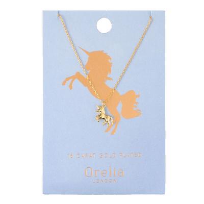 Orelia London Gold Lucky Unicorn Necklace