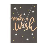 Orelia London Silver Make a Wish Charm Necklace