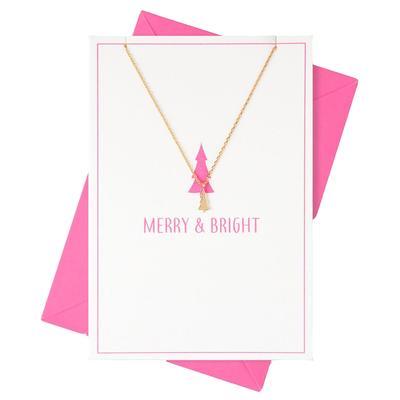 Orelia London Gold Merry & Bright Tree Charm Necklace