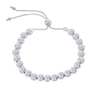 Adjustable Sterling Silver Ball Bead Bracelet
