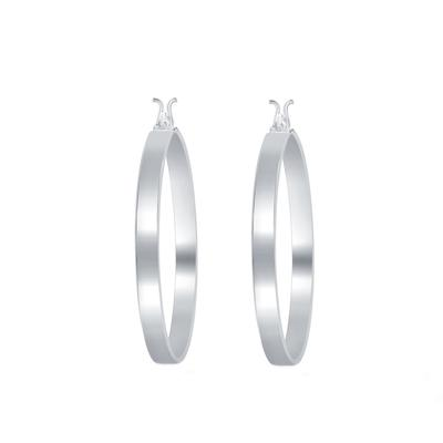 Sterling Silver Square Edge Hoops