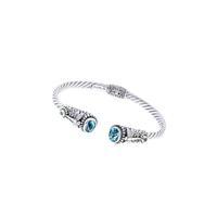 Sarda Sterling Silver & Swiss Blue Topaz Dragonfly Cuff Bracelet