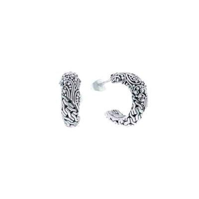 Sarda Sterling Silver Filigree Hoops