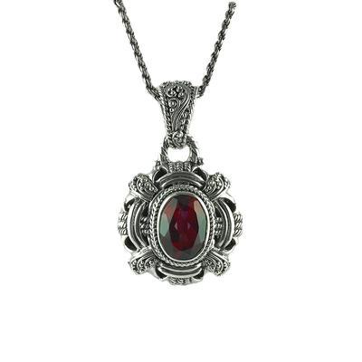 Sarda Sterling Silver & Raspberry Rouge Mystic Quartz Necklace