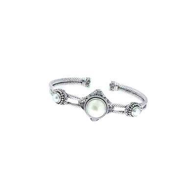 Sarda Sterling Silver & Cultured White Mabe Pearl Cuff Bracelet