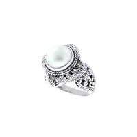 Sarda Sterling Silver & Cultured White Mabe Pearl Ring